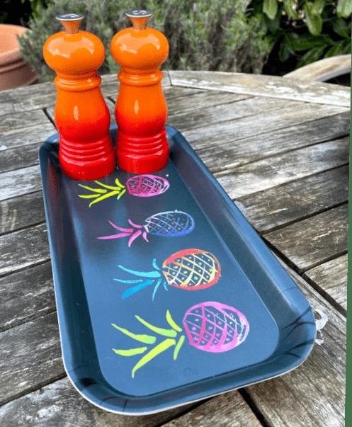 Grey pineapple funky little tray