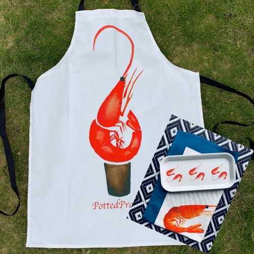Prawn apron gift set