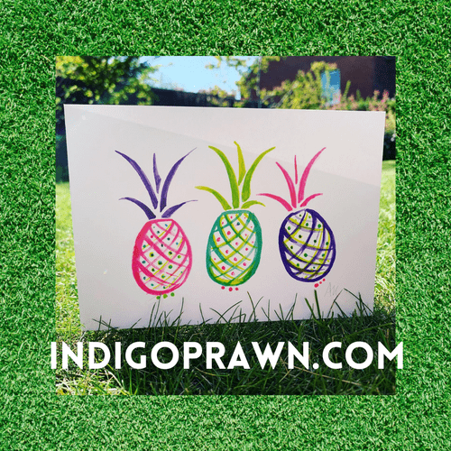 Pineapple Apron card and wrap pack