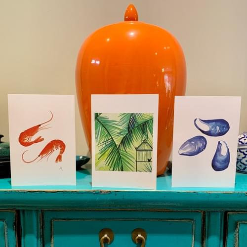 Simply Mussels greetings card