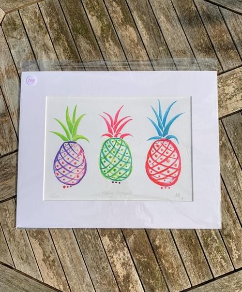 Fine Art Print: Popping Pineapples