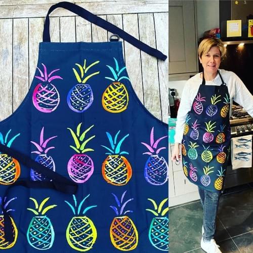 Slate Pineapple apron