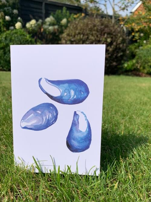 Simply Mussels greetings card