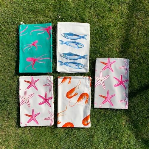 Fantastically bright TEA TOWELS