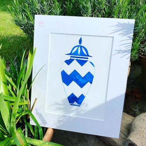 Fine Art print:  Blue Ginger Jar