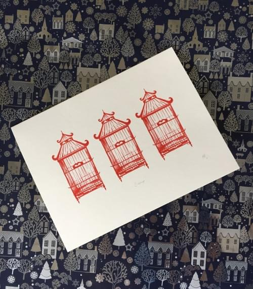 Christmas Birdcages 5 Pack