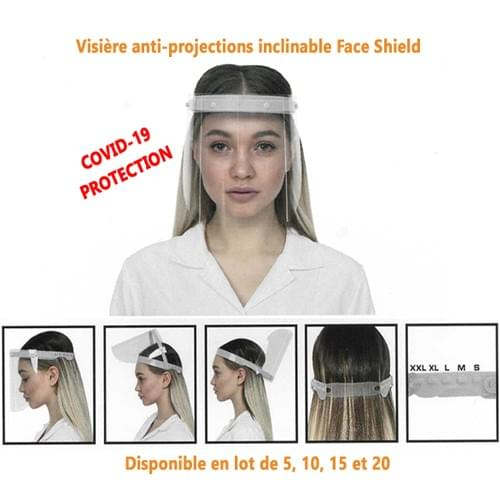 Visière anti-projections inclinable / (Protection Covid-19)