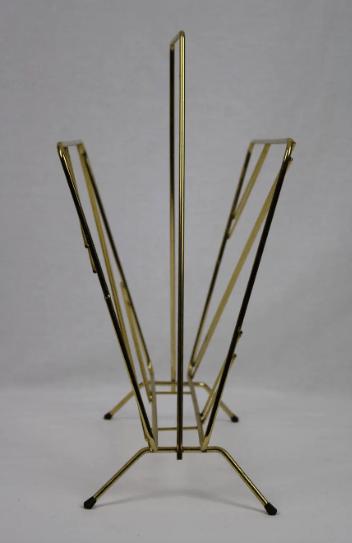 Porte-revue métal doré