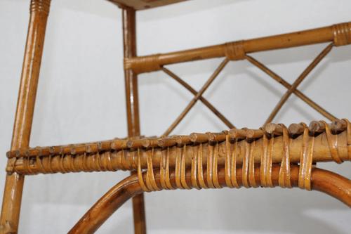 Table de chevet rotin