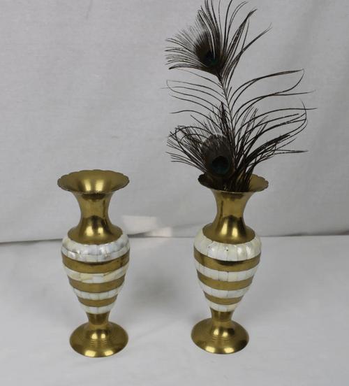 Vase laiton et nacre
