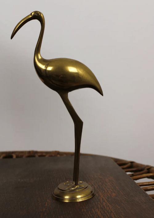 Héron en laiton
