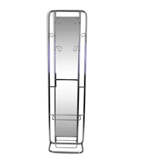 Vestiaire miroir chrome