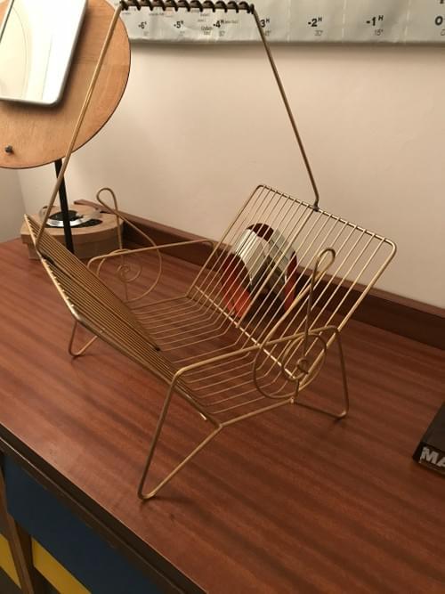 Porte-vinyle métal doré