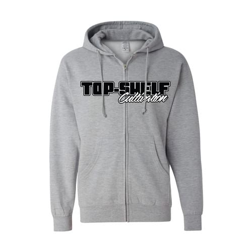 TOP-SHELF SPORTS GRAY ZIP HOODIE