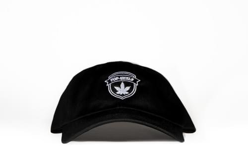 TOP-SHELF BADGE DAD HAT (black)
