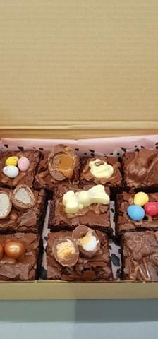 Easter Postal Brownies