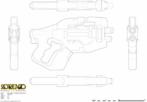 Mass Effect 3 - M-358 Talon Heavy Pistol - Digital File