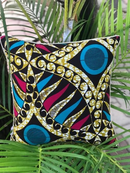 Bahari Decorative Pillowcase, 18x18in Turquoise