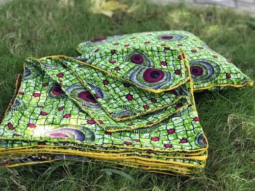 Zawadi Decorative Pillowcase Green/red