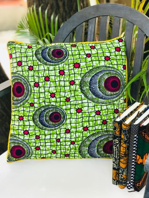 Zawadi Decorative Pillowcase Green/red