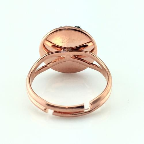 Very Light Pink faux druzy rose gold ring