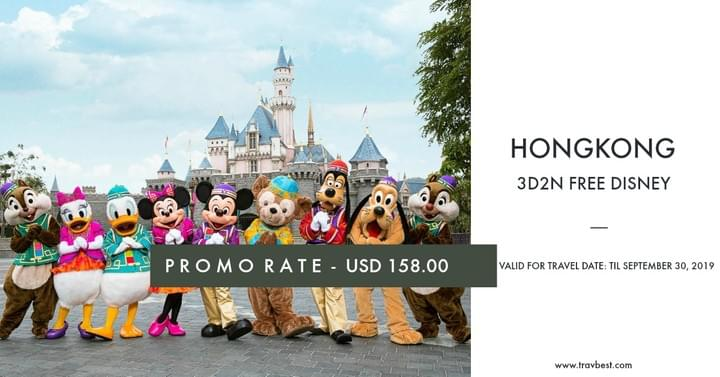 Hongkong with Free Disneyland Promo Tour 2019