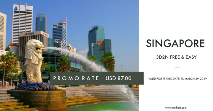 Singapore Free and Easy promo package 2017