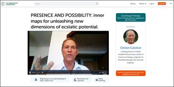 Clinton Callahan, Possibility and Presence at the Embodiment Conference