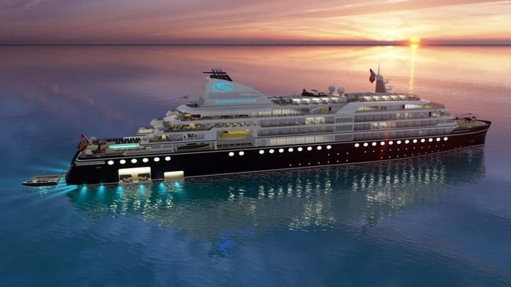 SeaDream world cruise from Ushuaia to Longyearbyen in 2022.