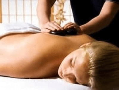 hot stone massage relaxation pamper
