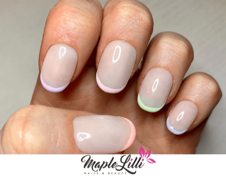 biab. french manicure, gel polish,