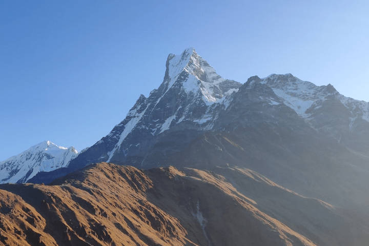 The Spectacular view of Mt. Fishtail from Mardi Himal Trek