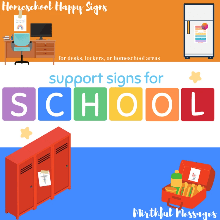 Support Signs for School (ALL)