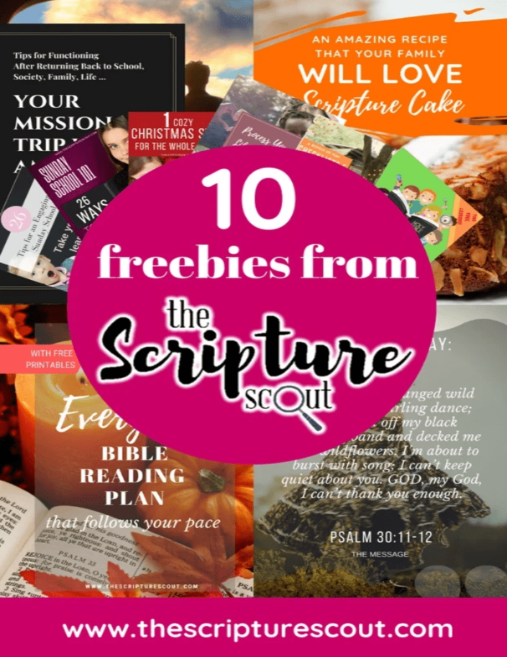10 Freebies from The Scripture Scout