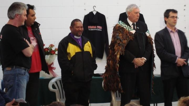 Tim Tipene, Mayor Bob Harvey