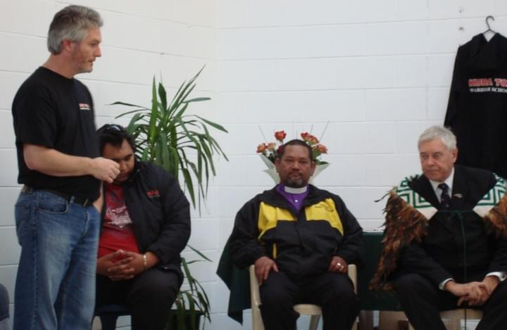 Tim Tipene at the opening of the Kura Toa centre, 2009
