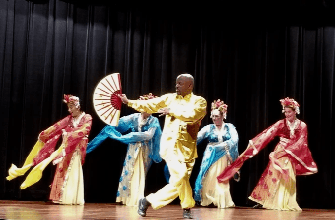 Chinese dance in a theater