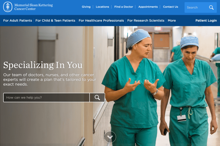 Memorial Sloan Kettering Cancer Center's Drupal 8 website