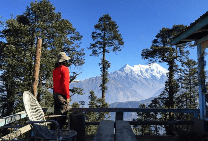 A view of Mt. Lirung on Gosainkunda to Helambu trek