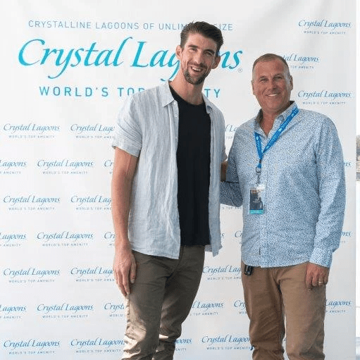 Michael Phelps Olympic Gold Medalist and H2 Lagoon Solutions President Kenneth Smith