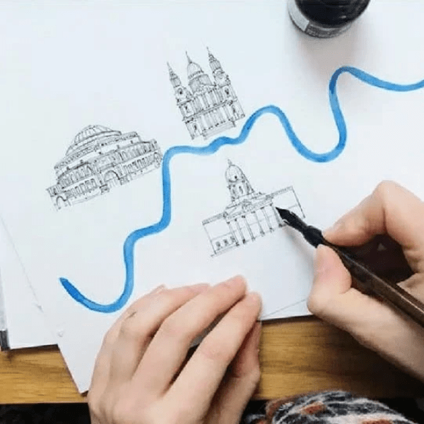 M.Y.O illustrated maps of london class example