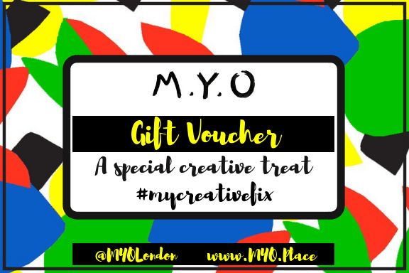 Creative gift voucher London M.Y.O