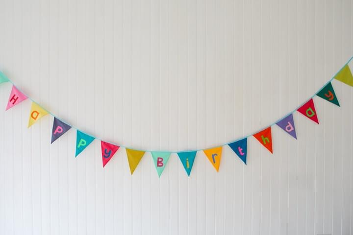 Happy birthday bunting by Rebel Bunting