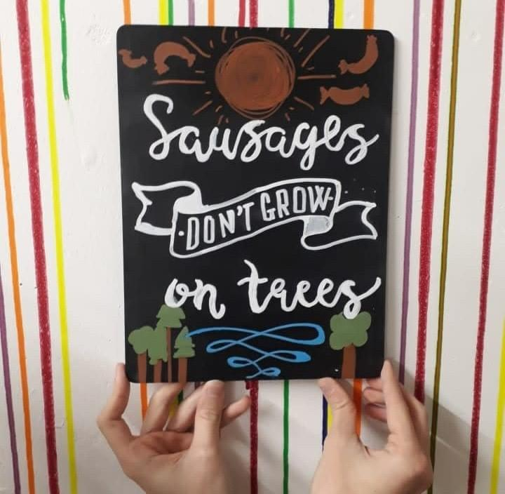 Chalkboard lettering creative class London at M.Y.O