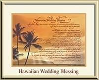 personalized wedding gift Hawaiian