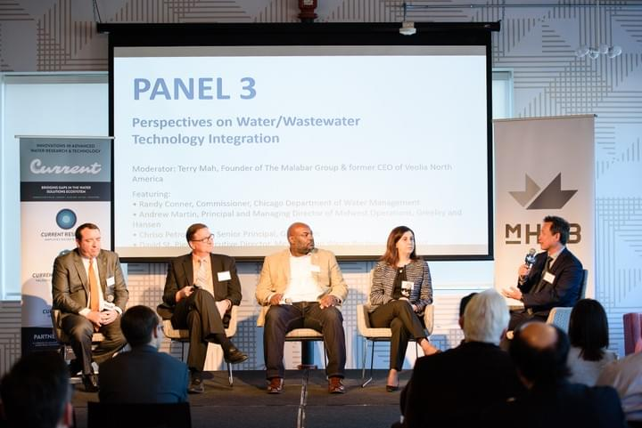 Image of a panel at Current World Water Day Symposium 2018