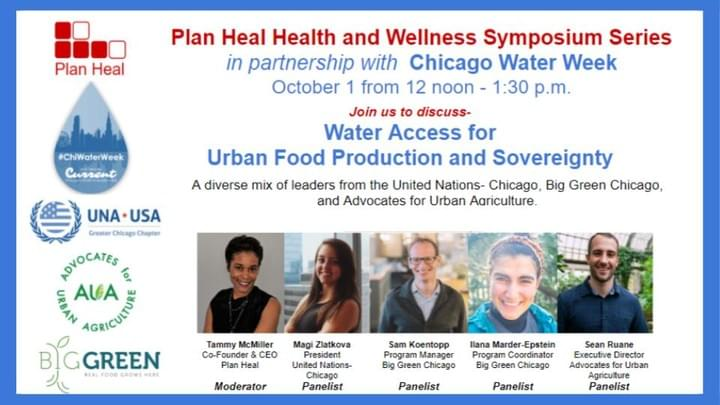 Water Access for Urban Food Production and Sovereignty event poster