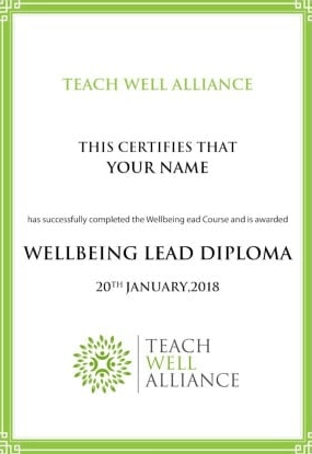 Unique project-based Wellbeing Lead Diploma, awarded for implementing a culture of staff and pupil wellbeing and mental health