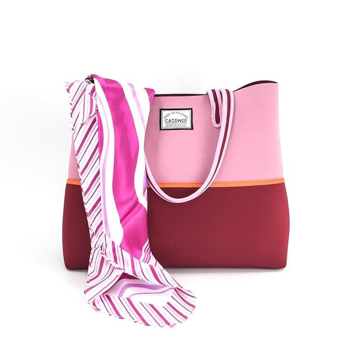 Neoprene Beach Bag with Scarf