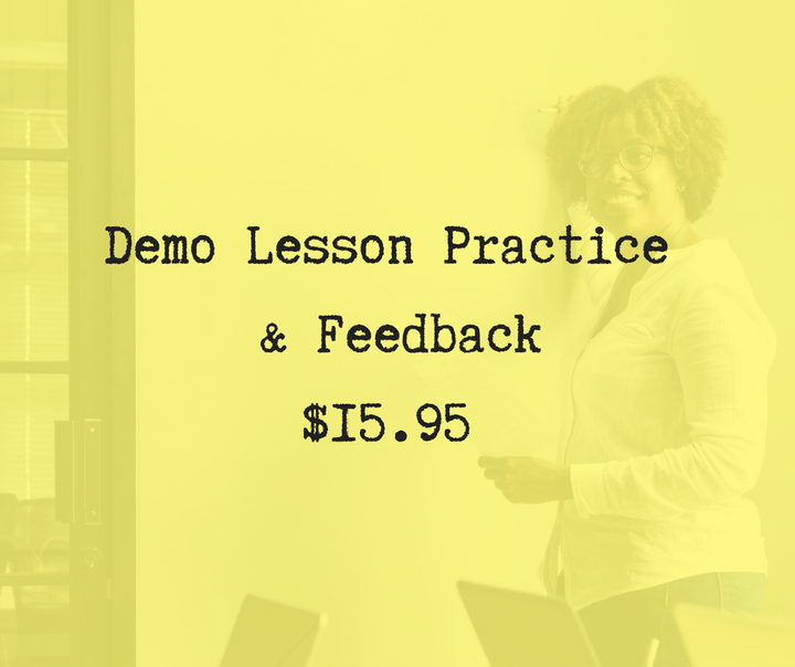 What is a demo lesson for teaching English online?